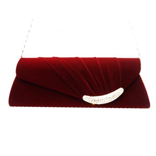 Женская вечерняя сумка Артикул 0733 бордовый