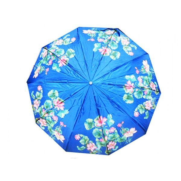 Женский зонт полуавтомат 3 сложения Tornado Артикул 21S синий