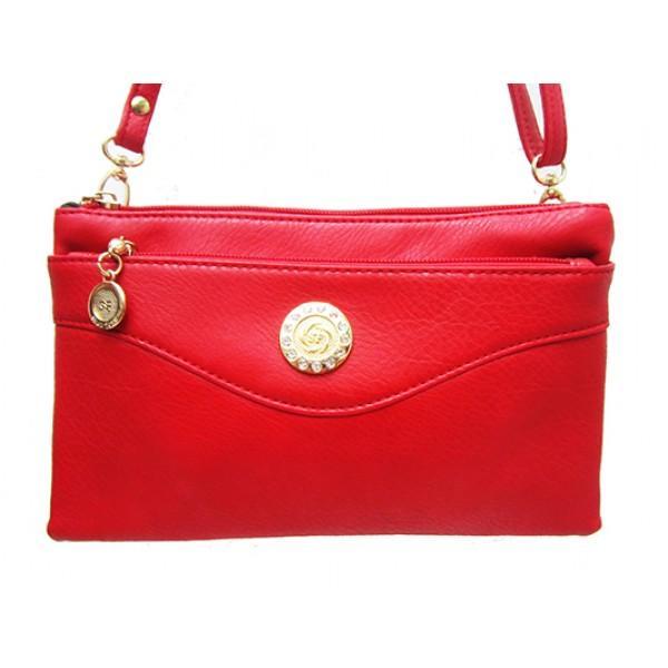 Женская сумка клатч Артикул 150 красный монета