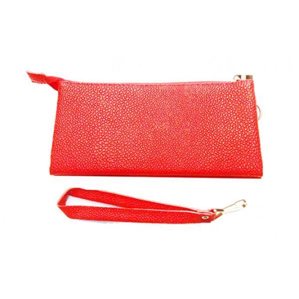 Женская косметичка Артикул 1650 чешуя красный