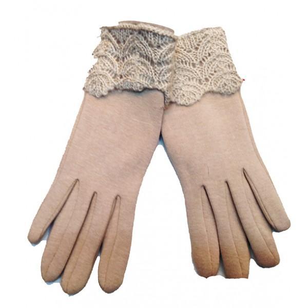 Женские перчатки Артикул Ю-070 бежевые