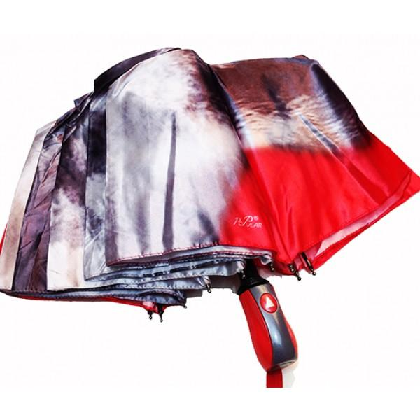 Женский зонт полуавтомат 3 сложения Popular Артикул 1004-276 №01