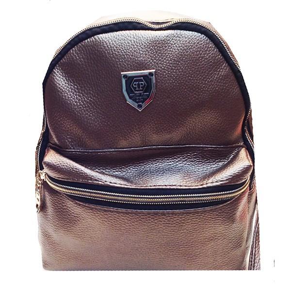 Городской молодежный рюкзак  Philipp Plein Артикул 00160 бронзовый