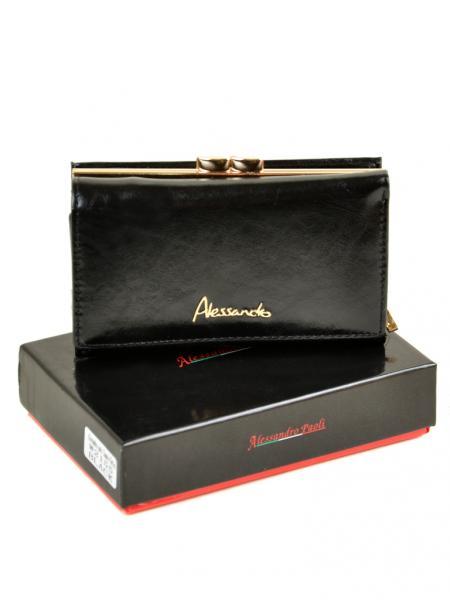 Женский кошелек Canarie кожа Alessandro Paoli  W2155 black