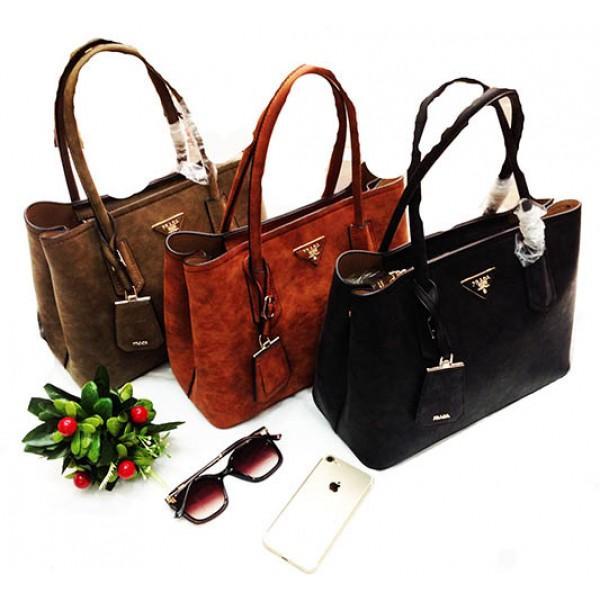 Фото  Женская сумка Prada Артикул 4-20-20 рыжая