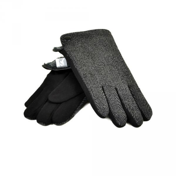 Перчатка Мужская стрейч МариFashion M3/17 мод5 black махра
