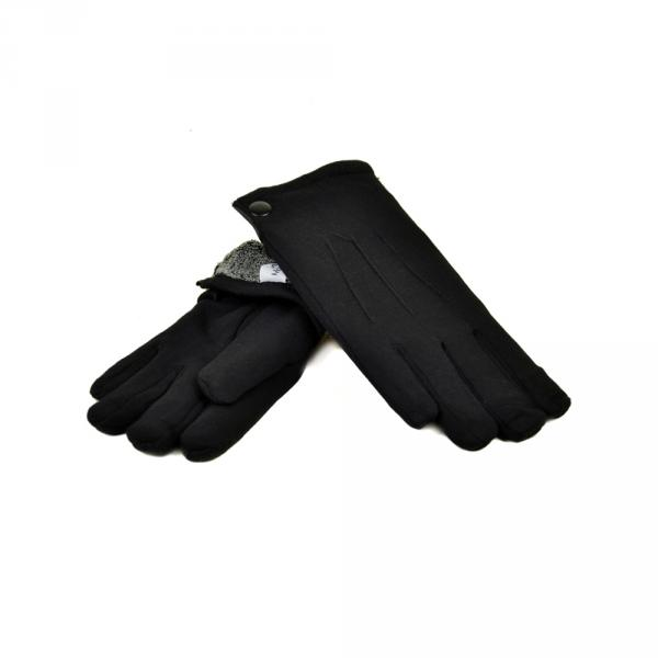 Перчатка Мужская стрейч МариFashion M1/17 мод3 black махра