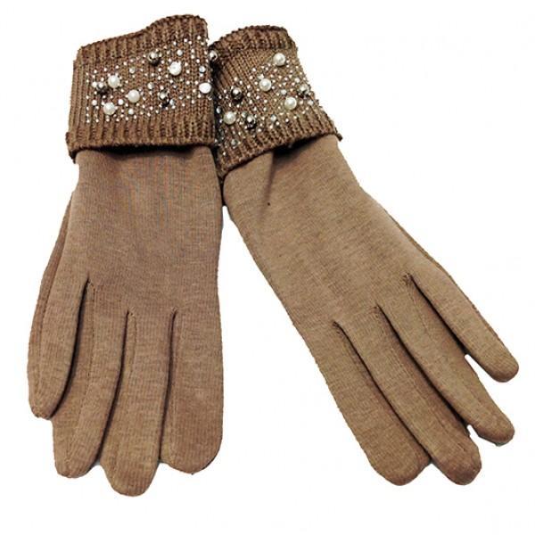 Женские перчатки Ronaerdo Артикул Ю-65-110 бежевые