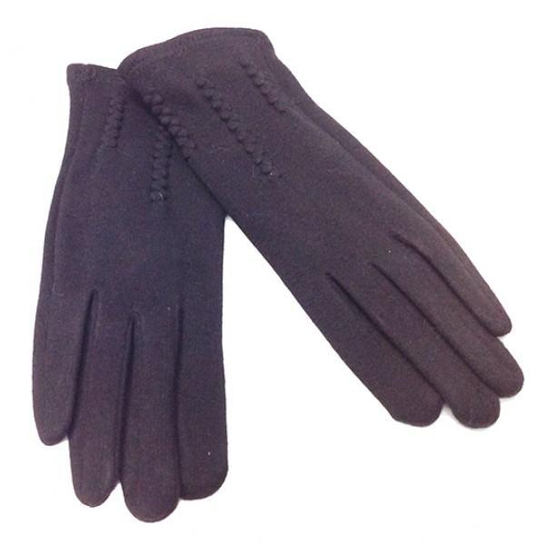 Женские перчатки Мария х/б Артикул  P-17 черные