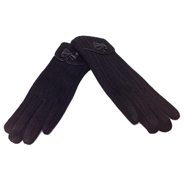 Женские перчатки Мария х/б Артикул P-39  черные