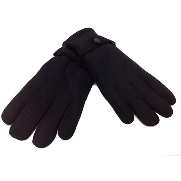 Мужские перчатки  флис Тепло Артикул P-0035 №1 черные