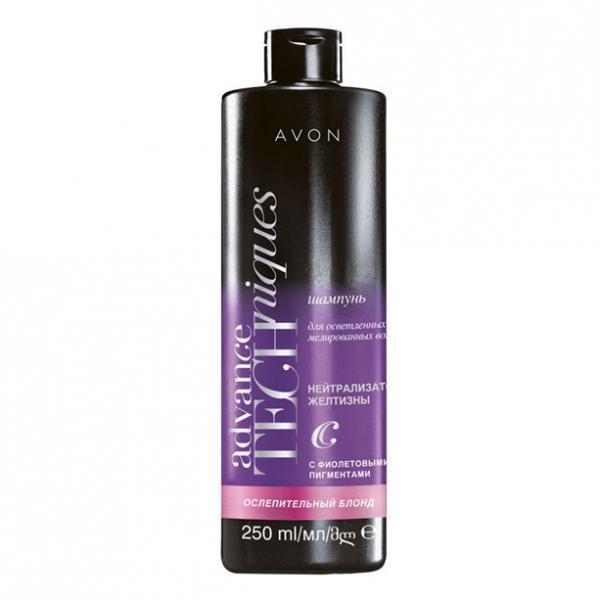 Фото для волос, шампуни и ополаскиватели Шампунь для осветленных и мелированных волос «Сияющий блонд»
