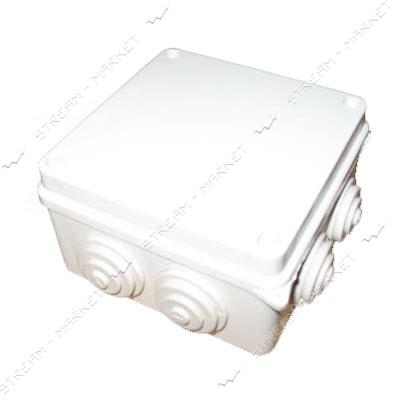 Коробка распред. наружного монтажа 85*85*50 мм. с резинками IP55