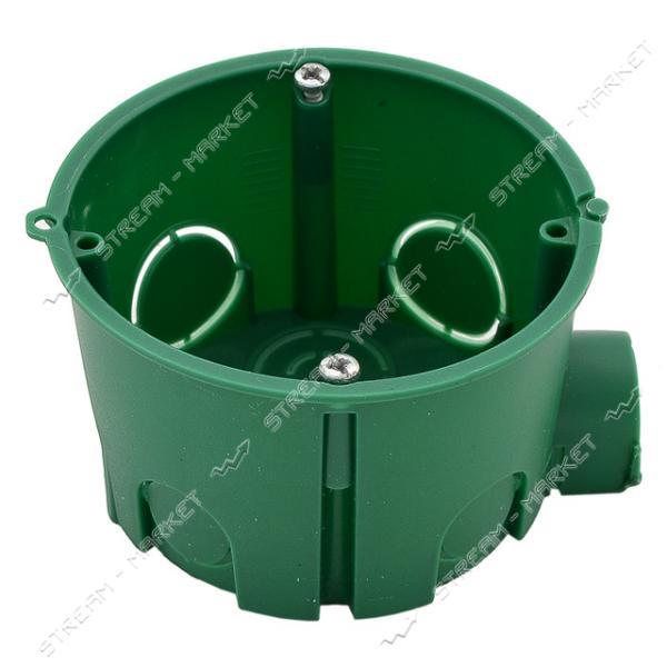 Коробка монтажная 'Кова' в бетон (зеленая) 65*45 стыковочная-ушко (уп. 100 шт.)