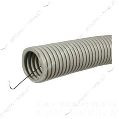 Гофра d32 не самозатухающая серая - Элементы крепежа кабеля на рынке Барабашова