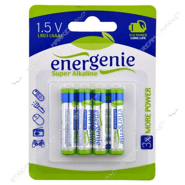 Батарейка Energenie Long Life щелочная AAA/LR03 микропальчик блистер