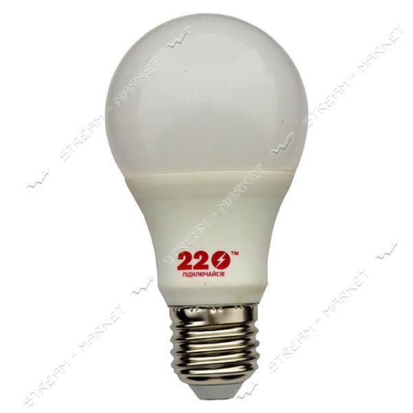 Лампа светодиодная 220 А60 7W 4100К Е27