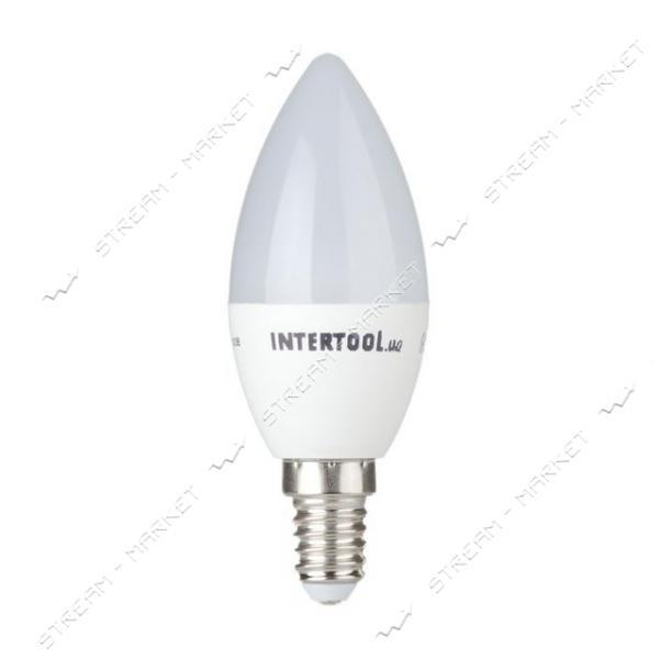 Лампа светодиодная INTERTOOL LL-0151 C37, Е14, 3Вт, 150-300В, 4000К (свеча)