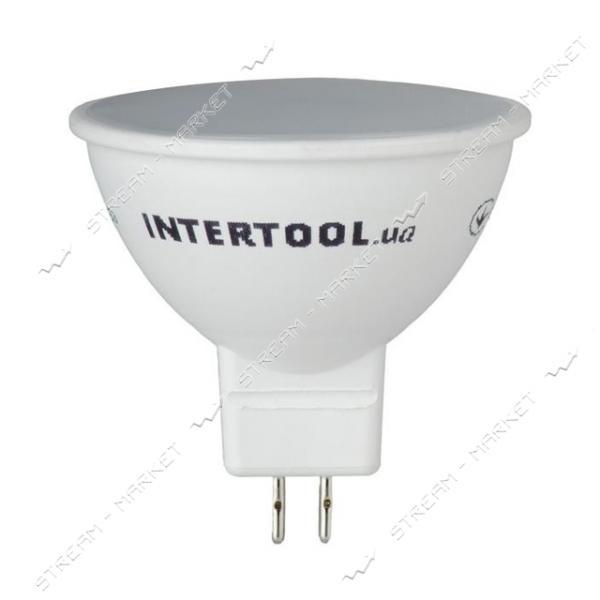 Лампа светодиодная INTERTOOL LL-0202 MR16, GU5.3, 5Вт, 150-300В, 4000К