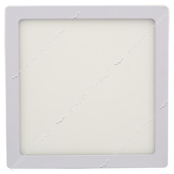 LED LIGHT. Светильник светодиодный накладной (алюминий) квадрат Wall Light 12W тепл 3000К