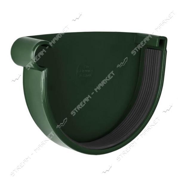 Заглушка желоба RAINWAY левая 130 Зеленый
