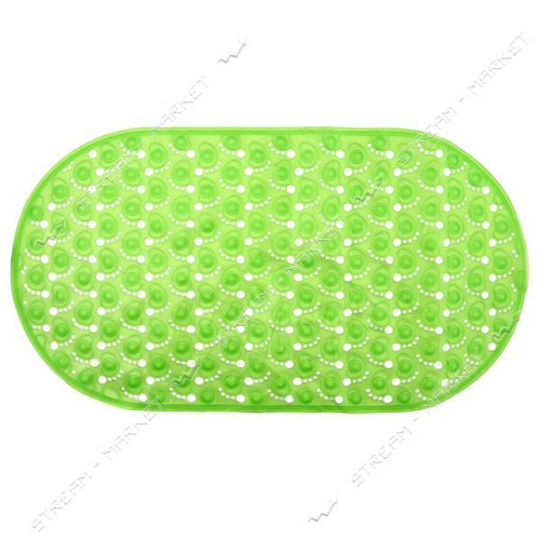 Коврик для ванны силиконовый Ножки прозрачный 40х60см