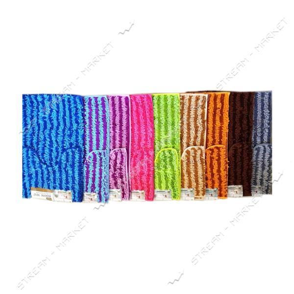 Набор полосатый коврик в ванную под унитаз ткань на прорезиненой основе Червячки 50х80см