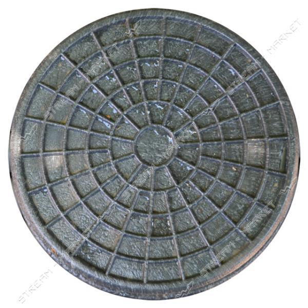 Крышка для люка 'Garden' полимерпесчаная d.315 черн.