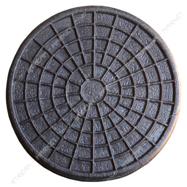 Крышка колодца ' Ромашка' полимер d.315 черн.