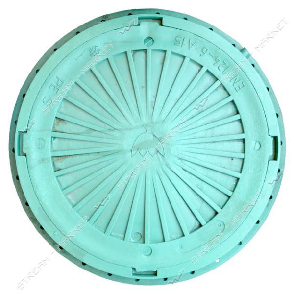 Люк зеленый А15 3000кг А15 круглый б/з ( диаметр 740мм, h-90мм )