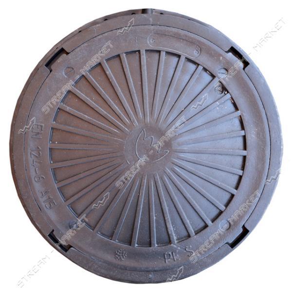 Люк черный А15 3000кг А15 круглый б/з ( диаметр 740мм, h-90мм )