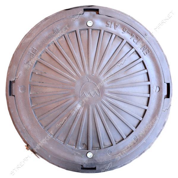 Люк черный А15 3000кг А15 круглый с замком ( диаметр 740мм, h-90мм )