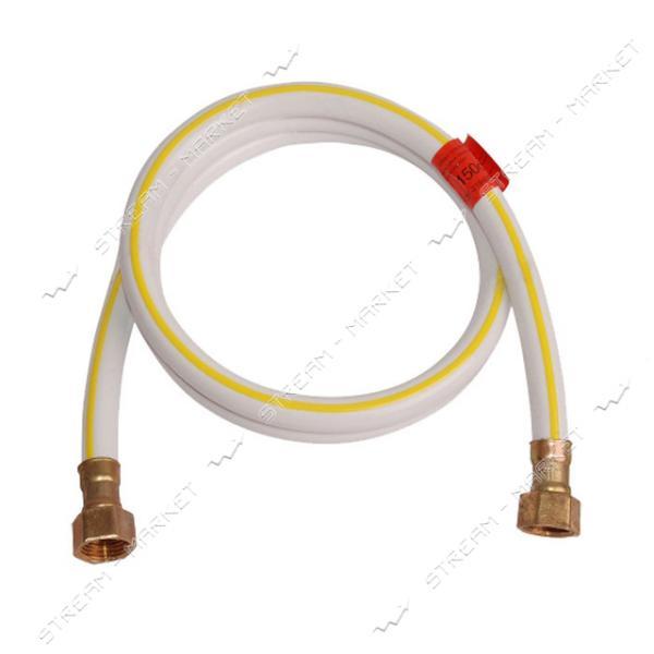 N0594.4 Шланг газовый ПВХ армированный белый L=600 1/2' В/В (металлические гайки)