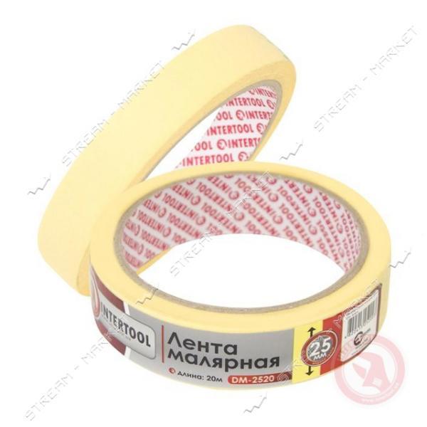 Лента малярная INTERTOOL DM-2520 25ммх20м Желтая (9шт)