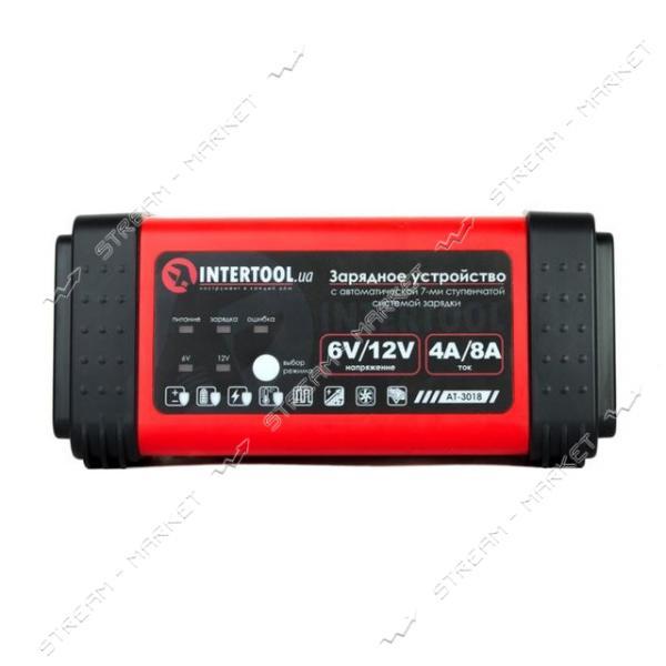 Зарядное INTERTOOL AT-3018 6-12В, 230В, 4/8А, LED индикация