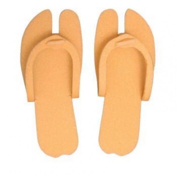 Тапочки-вьетнамки, оранжевый, 5 мм, 25 пар/уп