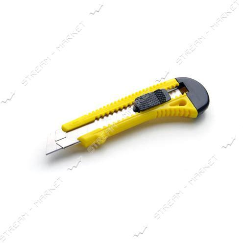 Нож выдвижной СИЛА 400204 18мм с металлической направляющей