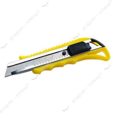Нож выдвижной СИЛА 400206 18мм с метал.направляющей, автозамок (эргономичный)