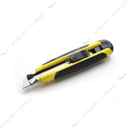 Нож выдвижной СИЛА 400226 18мм обрезин., автозамок MultiFlex