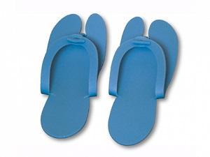 Тапочки-вьетнамки, голубой, 5 мм, 25 пар/уп