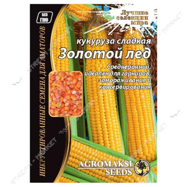 Семена Кукуруза АГРОМАКСИ сахарная Золотой лед 20г