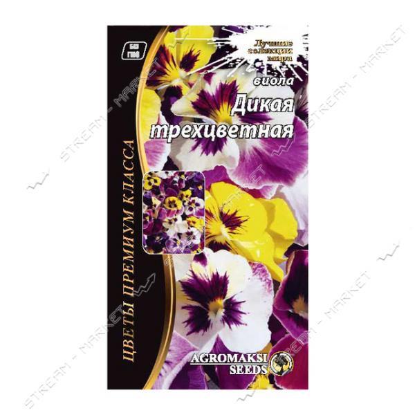 Семена Виола АГРОМАКСИ смесь Дикая трехцветная (двулет) 0, 1г