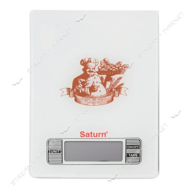 Весы кухонные Saturn ST-KS-7235brown электрон., 5кг, ж/к дисплей, сенсорное управление, стекло