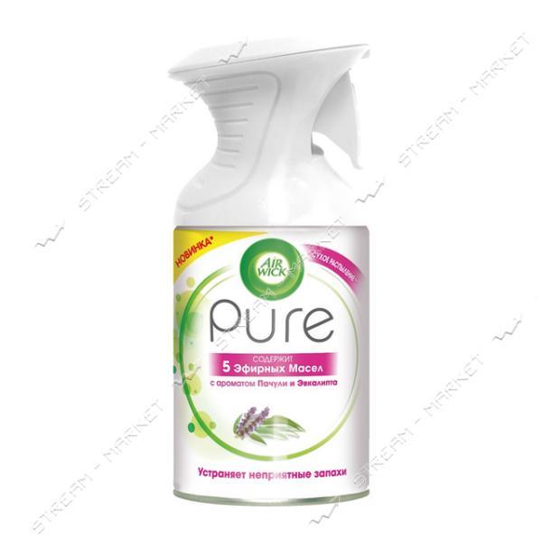 Аэрозольный освежитель воздуха AIRWICK Pure Эфирных Масел с ароматом Пачули и Эвкалипта 250мл