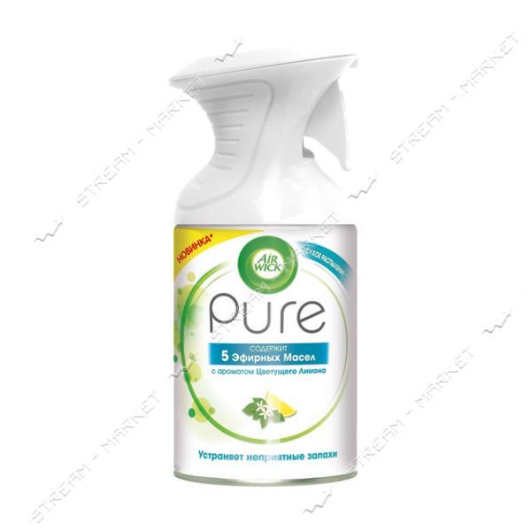 Аэрозольный освежитель воздуха AIRWICK Pure Эфирных Масел с ароматом Цветущего Лимона 250мл