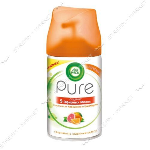 Освежитель воздуха AIRWICK Freshmatic Pure Апельсин и Грейпфрут сменный баллон 250мл