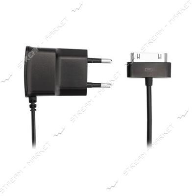 Сетевое зарядное устройство'iPhone 4' 5V/0.8А, цвет черный