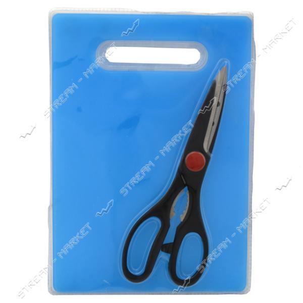 Набор разделочная доска ножницы кухонные