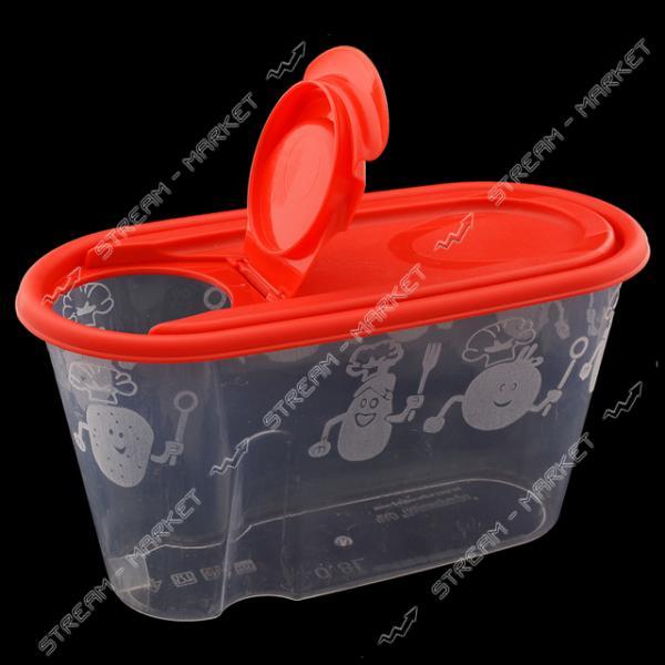 Емкость пластиковая для хранения круп 0.8л