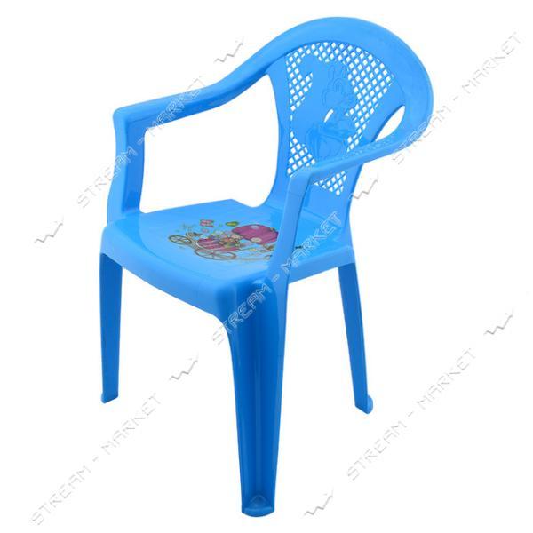 Кресло пластиковое детское цвета в ассорт.